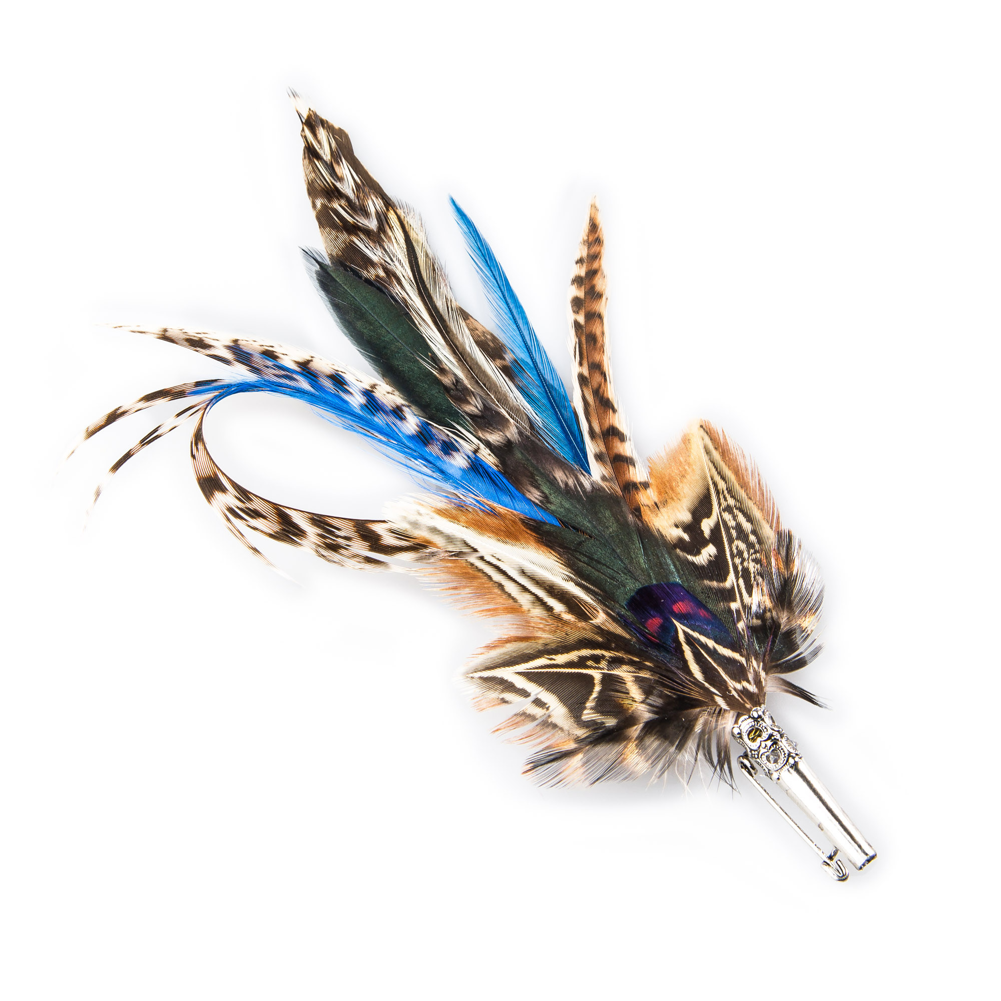 73a2a1aaf51 Blue Feather Hat Pin. A. Tap to expand · A B
