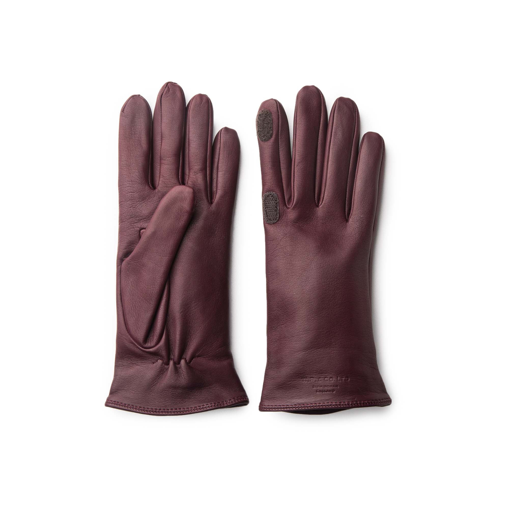 Womens leather gloves burgundy - Ladies Leather Shooting Gloves Burgundy