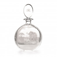 Westley Richards Hand Engraved Crystal Decanter with Charging Buffalo