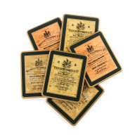 W. R. & Co. Trade Label Coasters