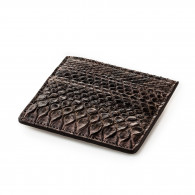 Post & Co. Python Card Holder Wallet in Tundra