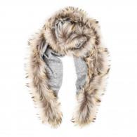 Schneiders Ladies Fur Detail Scarf in Light Grey