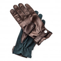 Westley Richards Premium Shooting Gloves in Green and Mink - RH