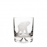 Westley Richards Hand Engraved Crystal Glass - Elephant