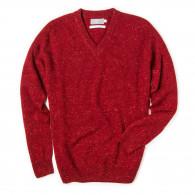 Westley Richards Rora Cashmere V neck Sweater in Rage