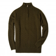 Westley Richards Cashmere Cannock Cable  in Field Green