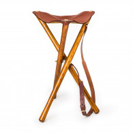 Alexandre Mareuil Leather Tripod Seat - 60cm