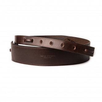 "Westley Richards  2"" Leather Rifle Sling in Dark Tan"