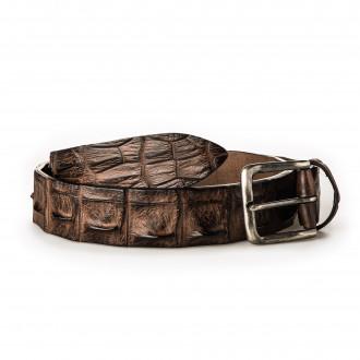 Post & Co.  Men's Crocodile Leather Belt - Brown