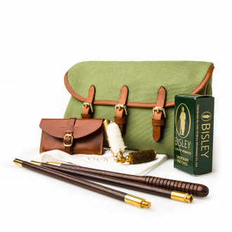 Westley Richards Redfern Cleaning Pouch with Accessories in Safari Green & Mid Tan
