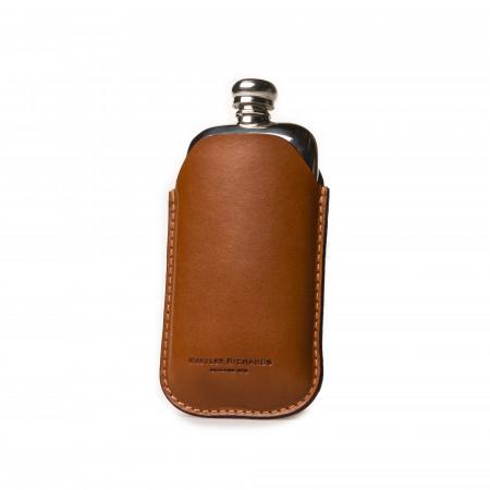 2.5oz Hip flask in Mid Tan
