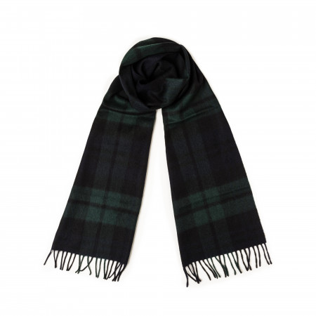 Westley Richards Pure Cashmere Scarf in Black Watch