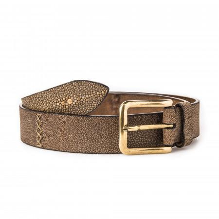 Men's Stingray Belt in Brown