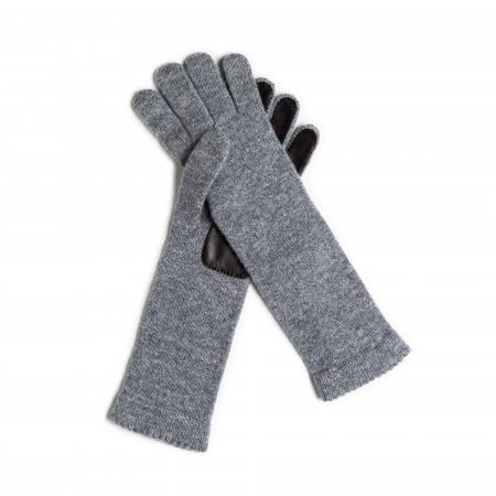 Inverni Ladies Cashmere and Leather Gloves - Graphite