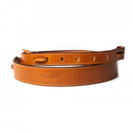 """1.5"""" Leather Rifle Sling in Mid Tan"""