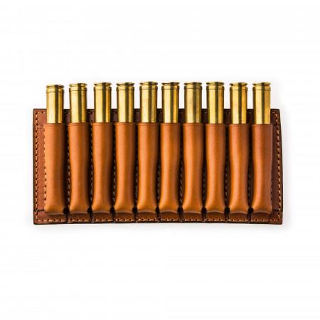 Medium 10 Rd Open Ammunition Belt Wallet in Mid Tan