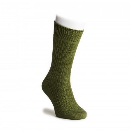 Cotton Waffle Socks in Green