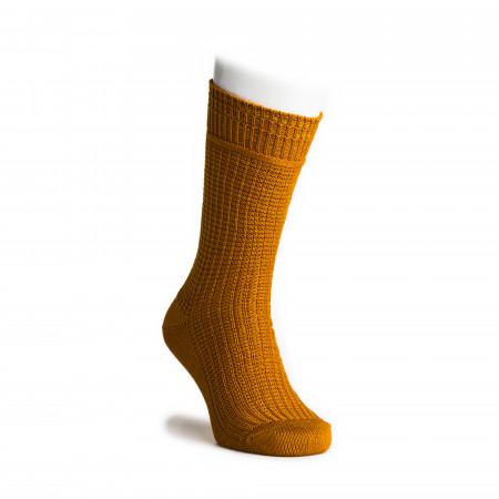 Cotton Waffle Socks in Mustard