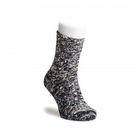 Low Gauge Ankle Socks in Navy