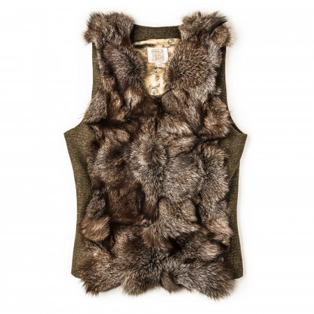 T.ba Ladies Short St. Petersburg Fur Gilet