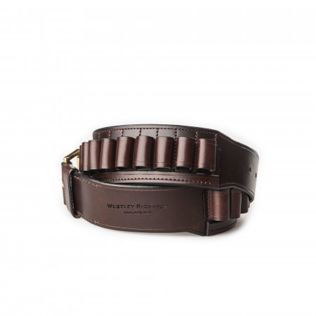 12 Gauge Leather Cartridge Belt in Dark Tan