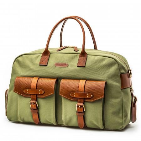 Bournbrook 48HR Bag in Safari Green and Mid Tan