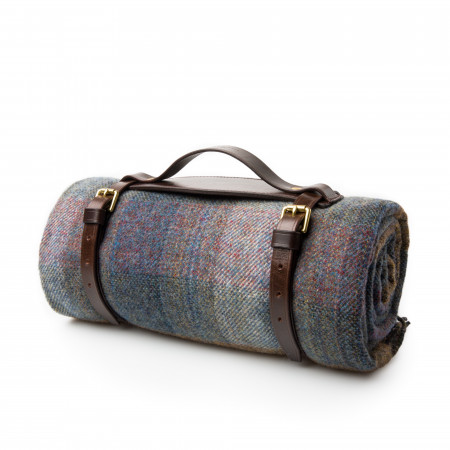 Wool Travel Blanket in Midnight