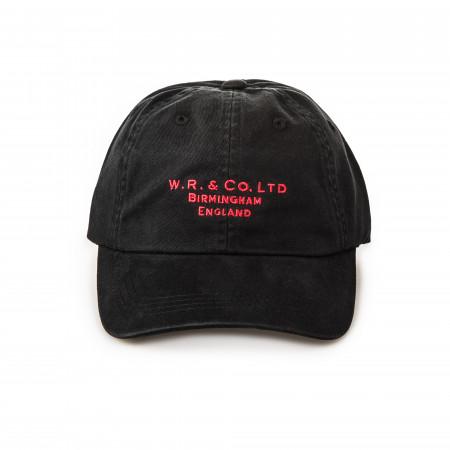 Twill Logo Cap in Black