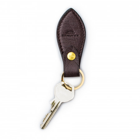 Leather Key Fob in Ostrich
