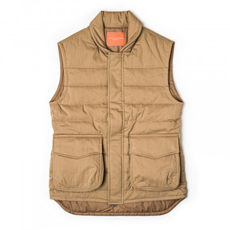 Pathfinder Quilted Gilet in Safari