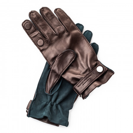 Premium Shooting Gloves in Green and Mink - RH