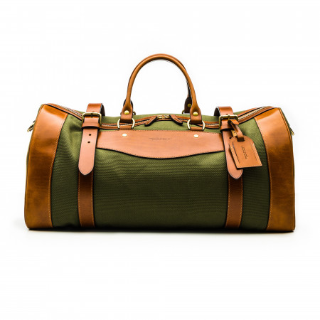 Large Sutherland Bag in Hunter Green and Mid Tan