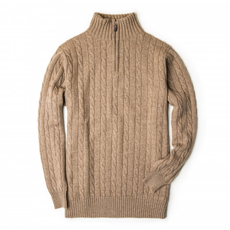Westley Richards Cashmere Cannock Cable  in Light Clay