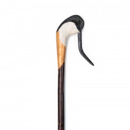 Hand Carved Avoset Walking Stick with Buffalo Horn Beak