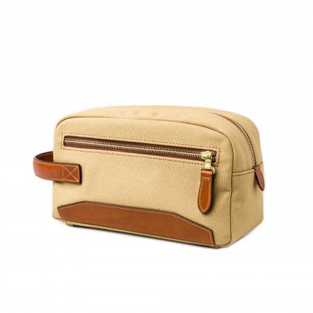 Westley Richards Bournbrook Wash Bag in Safari and Mid Tan