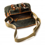 Bishop Bag In Forest Green Waxed Cotton