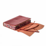 Leather Notebook in Crimson