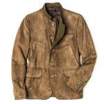 Men's Franz Ferdinand Suede Jacket in Sand
