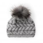 Plait Design Cashmere & Raccoon Fur Hat