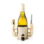 Wine Bottle Rest With Warthog Handles