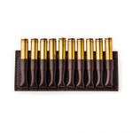 Small 10 Rd Open Ammunition Belt Wallet in Dark Tan