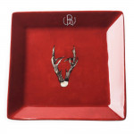 Porcelain Dish With Hand Painted Roebuck Antlers- Design 2