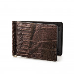 Lizard Wallet with Money Clip in Tundra
