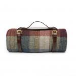 Wool Travel Blanket in Sky Berry