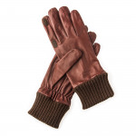 RH Silk Lined Leather Shooting Gloves in Tan