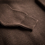 Bowland Zip Cardigan in Clay with Field Green