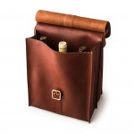 Premium Leather Carrier for 6 Bottles