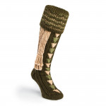 Whitfield Shooting Sock in Loden & Camel