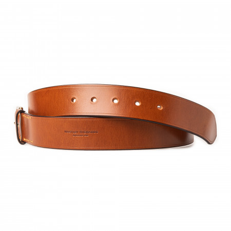 """1.5"""" Leather Belt in Mid Tan"""