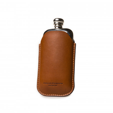 2.5oz Hip flask in Mid Tan